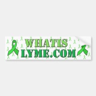 Lyme Disease Awareness White Green Bumper Sticker