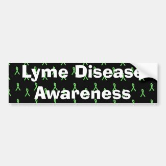 Lyme Disease Awareness with Lyme Ribbons Bumper
