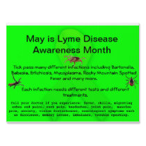 Lyme Disease Awareness  Yard Sign