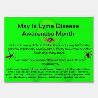 Lyme Disease Awareness  Yard Sign