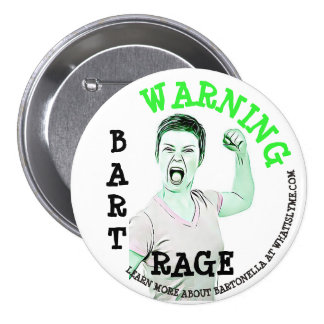 "Lyme Disease, ""Bart Rage"" Button"