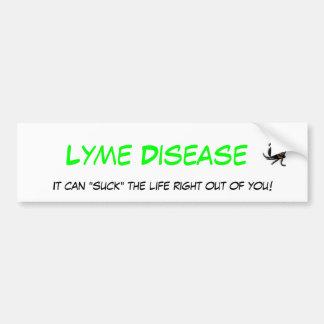 Lyme Disease Bumper Sticker Car Bumper Sticker