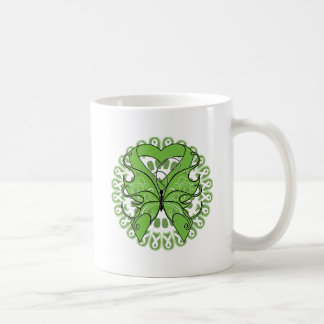 Lyme Disease Butterfly Circle of Ribbons Classic White Coffee Mug
