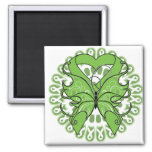Lyme Disease Butterfly Circle of Ribbons Magnets