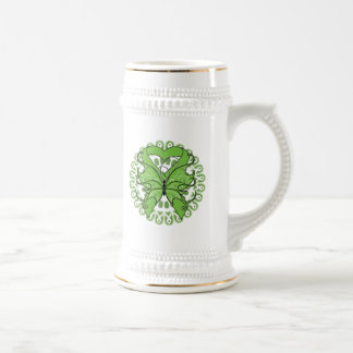 Lyme Disease Butterfly Circle of Ribbons Coffee Mugs