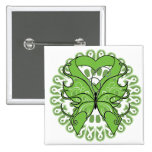 Lyme Disease Butterfly Circle of Ribbons Pin