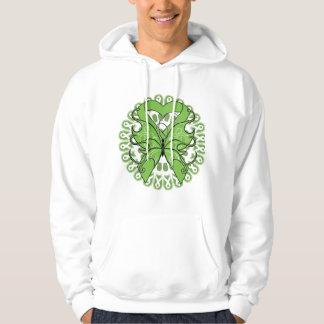 Lyme Disease Butterfly Circle of Ribbons Sweatshirt