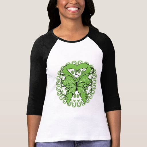 Lyme Disease Butterfly Circle of Ribbons T-shirts