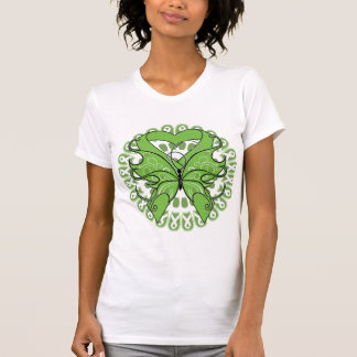 Lyme Disease Butterfly Circle of Ribbons Tee Shirts