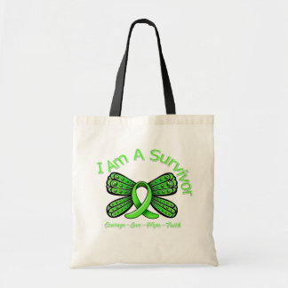 Lyme Disease Butterfly I Am A Survivor Tote Bags