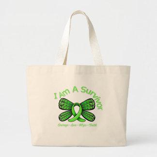 Lyme Disease Butterfly I Am A Survivor Canvas Bags