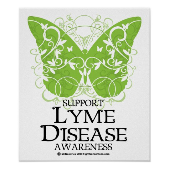 Lyme Disease Butterfly Poster