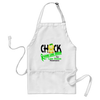 Lyme Disease Chick Gone Lime Green 2 Adult Apron