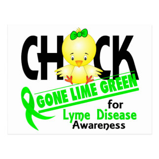 Lyme Disease Chick Gone Lime Green 2 Postcard