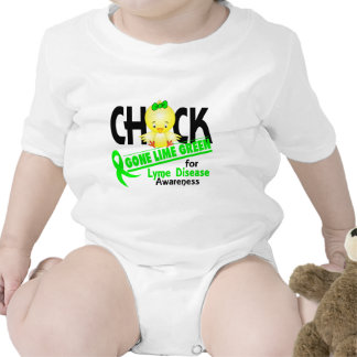 Lyme Disease Chick Gone Lime Green 2 Baby Creeper