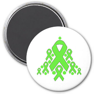 Lyme Disease Christmas Ribbon Tree 3 Inch Round Magnet