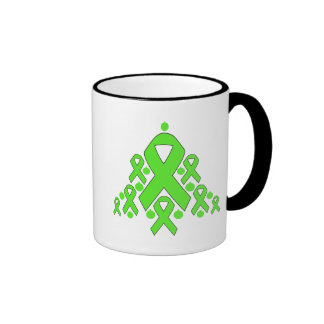 Lyme Disease Christmas Ribbon Tree Ringer Coffee Mug