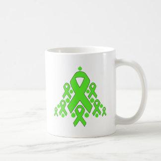 Lyme Disease Christmas Ribbon Tree Classic White Coffee Mug