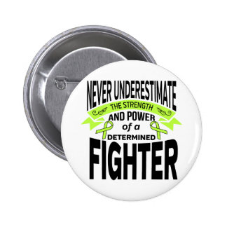 Lyme Disease Determined Fighter 2 Inch Round Button