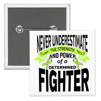 Lyme Disease Determined Fighter 2 Inch Square Button