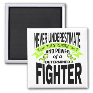 Lyme Disease Determined Fighter 2 Inch Square Magnet