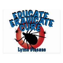 Lyme Disease - Educate, Eradicate, Cure Postcard