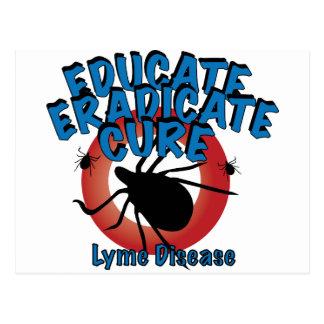 Lyme Disease - Educate Eradicate Cure Post Cards