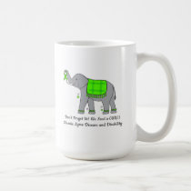 Lyme Disease Elephant of Awareness and Hope Coffee Mug