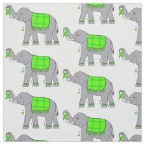 Lyme Disease Elephant of Awareness and Hope Fabric