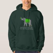 Lyme Disease Elephant of Awareness and Hope Hoodie