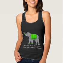 Lyme Disease Elephant of Awareness and Hope Tank Top