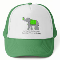 Lyme Disease Elephant of Awareness and Hope Trucker Hat