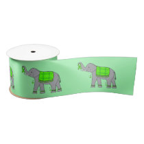 "Lyme Disease Elephant of Hope 3"" Satin Ribbon"