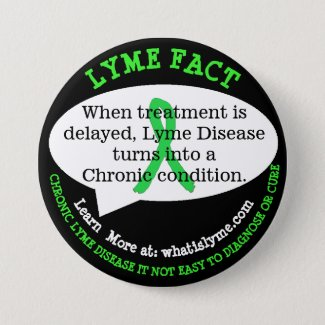 Lyme Disease Fact Buttons for Awareness Events