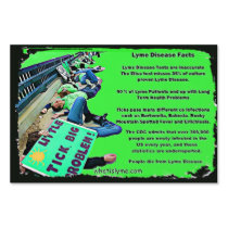 Lyme Disease Facts & May is Awareness Month Sign
