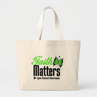Lyme Disease FAITH MATTERS Large Tote Bag