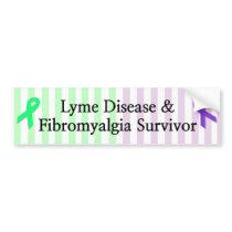 Lyme Disease & Fibromyalgia Survivor Bumper Sticke Bumper Sticker