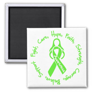 Lyme Disease Fight Cure Hope Logo 2 Inch Square Magnet
