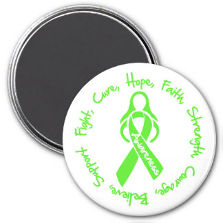 Lyme Disease Fight Cure Hope Logo 3 Inch Round Magnet
