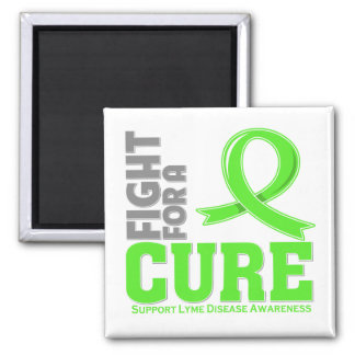 Lyme Disease Fight For A Cure 2 Inch Square Magnet