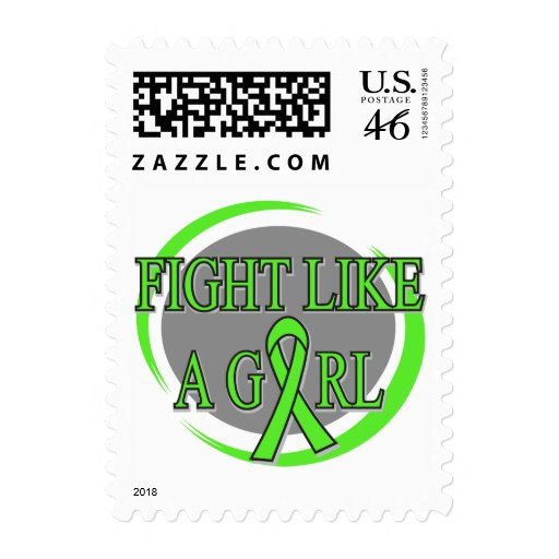 Lyme Disease Fight Like A Girl Circular Postage