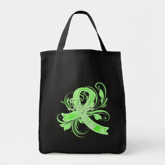 Lyme Disease Fight Like a Girl Flourish Canvas Bag