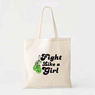 Lyme Disease Fight Like A Girl Motto Bags