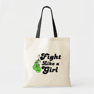 Lyme Disease Fight Like A Girl Motto Tote Bags