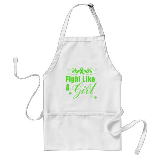 Lyme Disease Fight Like A Girl Ornate Adult Apron