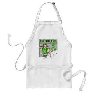 Lyme Disease Fight Like A Girl Punch Adult Apron