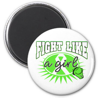 Lyme Disease Fight Like A Girl Sporty Callout Refrigerator Magnets