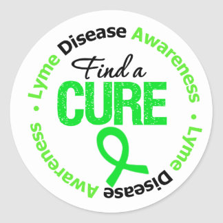 Lyme Disease Find A Cure Classic Round Sticker