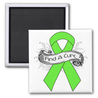 Lyme Disease Find A Cure Ribbon 2 Inch Square Magnet