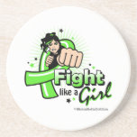 Lyme Disease Fist - Fight Like a Girl Coasters